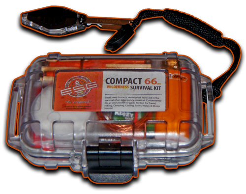 Compact 66pc Wilderness Survival Kit